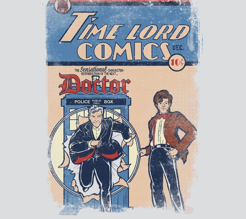 Detail View of T-Shirt - Time Lord Comics