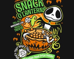 Detail View of T-Shirt - Snack O'Lanterns