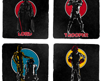 Tracy Wars Vol. 2 4 Coaster set