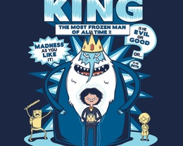 Detail View of T-Shirt - The Demented King