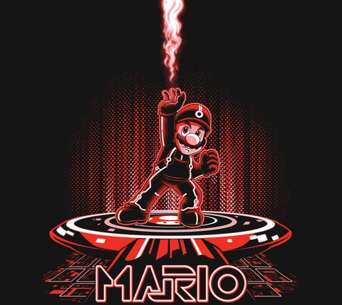 Detail View of T-Shirt - MARIOTRON