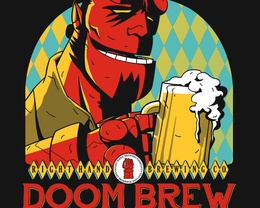 Detail View of T-Shirt - Right Hand Doom Brew
