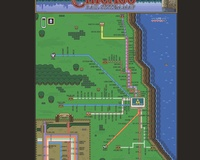 Zelda III Chicago L Train Map