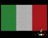Italy Mario Bricks Flag